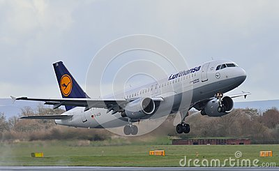Lufthansa Airbus A320 Editorial Photography