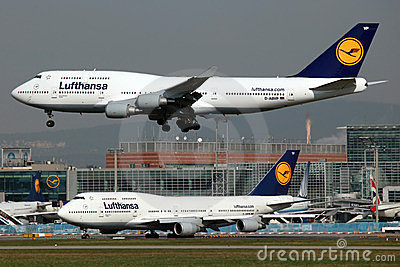 Lufthansa Boeing 747 Editorial Photo
