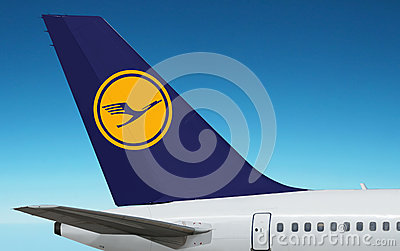 Lufthansa German Airlines plane. Editorial Stock Photo