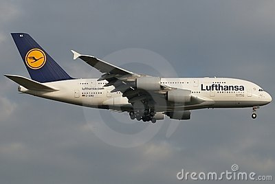 Lufthansa Super Jumbo Editorial Photo