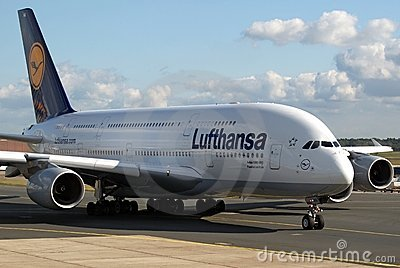 Lufthansa Super Jumbo Editorial Stock Photo