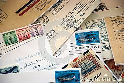 Luftpost-Zeichen der Vergangenheit