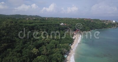 Luftsicht auf den Strand von Thomas stock video footage