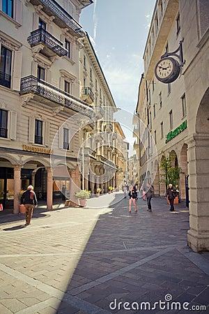 Lugano Editorial Stock Photo