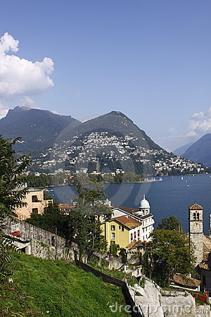 Free Lugano Scenery Royalty Free Stock Images - 11284439