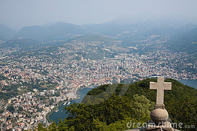 Lugano view from San Salvatore