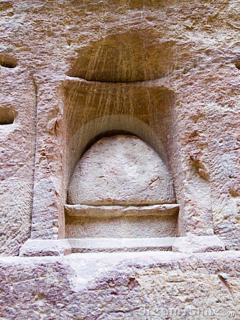Lugar de Nabatean de la adoración de dios