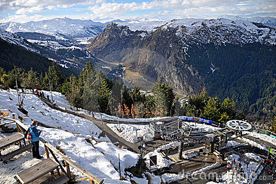 Luge Chairlift, Queenstown, New Zealand Editorial Photography