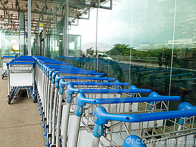 Luggage Cart in Airport Area