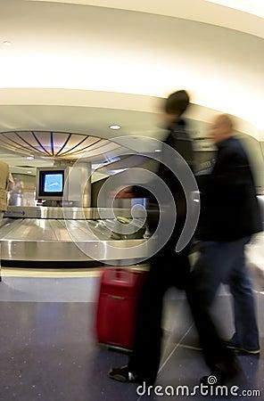 Luggage claim area