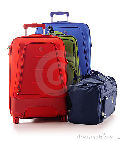 Free Luggage Consisting Of Suitcases Isolated On White Royalty Free Stock Photo - 20524625