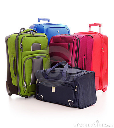 Free Luggage Consisting Of Suitcases Isolated On White Stock Photo - 20524660
