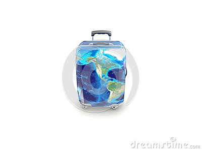 Luggage isolated on white background