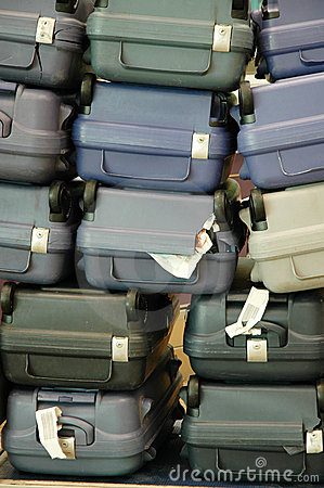 Luggage pile up