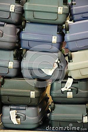 Luggage pile up