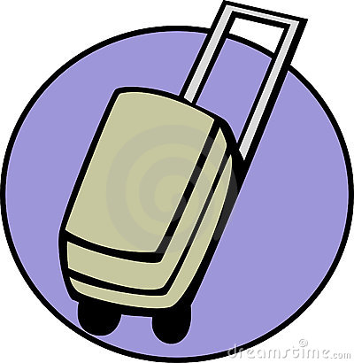 luggage, suitcase or briefcase. Vector available