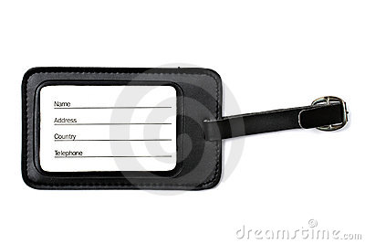 Luggage tag isolated on white
