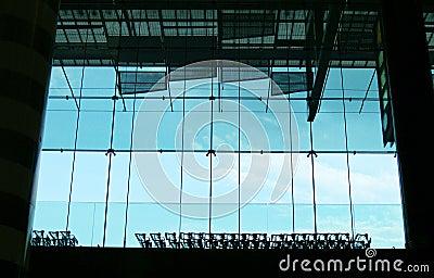 Luggage trolleys and window
