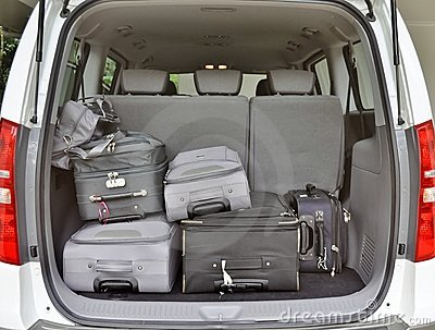 Luggage in Van