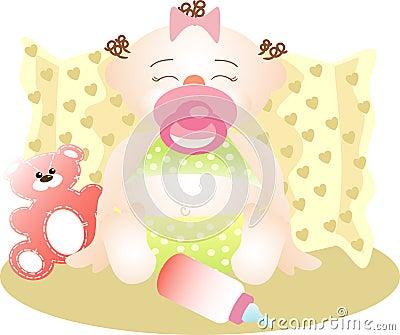 Lugnat sova för flicka som är litet