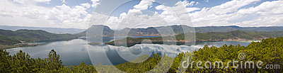 Lugu Lake in Yunnan, China