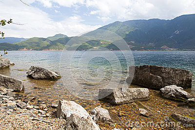 Lugu sjö i Yunnan, Kina