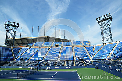 Luis Armstrong Stadium at the Billie Jean King National Tennis Center ready for US Open tournament Editorial Photo