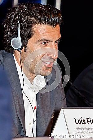 Luis Figo Ambassador UEFA Editorial Image