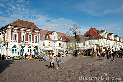 Luisenplatz and Brandenburg street in Potsdam Editorial Photo