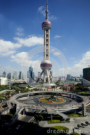 Lujiazu in holidayi,landmark of shanghai Editorial Photography
