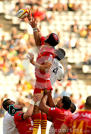 Luke Charteris of USAP Perpignan Editorial Stock Photo