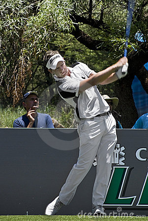 Luke Donald - Teeing Off Editorial Photography
