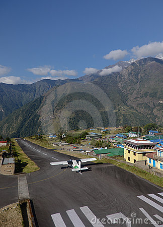 Lukla airport - Everest entry point Editorial Photography