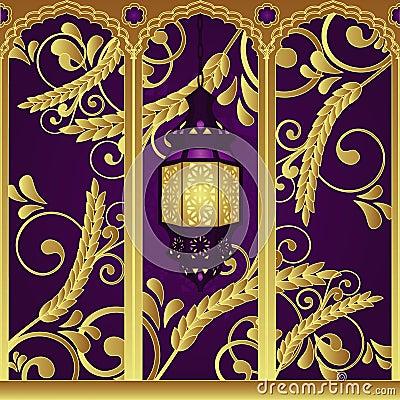 Luksusu arabski lampowy styl