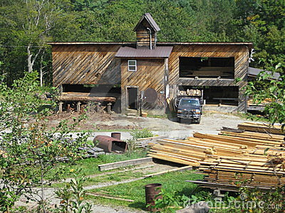Lumber Mill Editorial Stock Photo