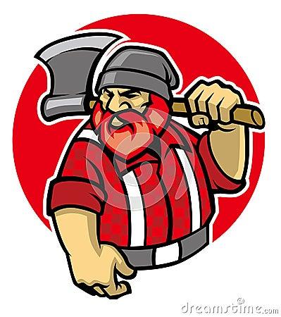 Free Lumberjack Mascot Royalty Free Stock Photos - 45363248