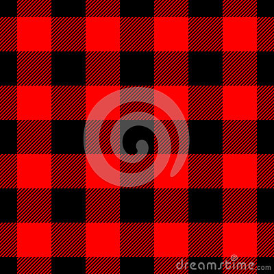 Free Lumberjack Plaid Pattern In Red And Black. Seamless Vector Pattern. Simple Vintage Textile Design Stock Image - 95112081