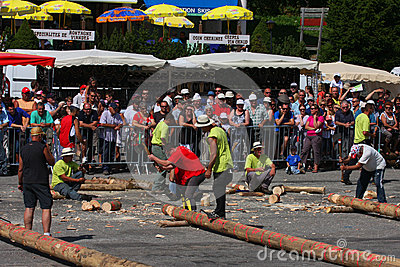 Lumberjacks  competition Editorial Photo