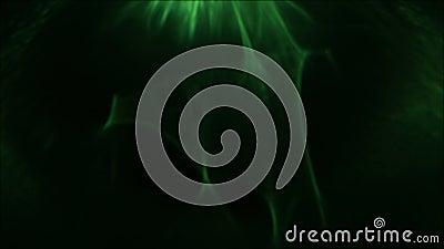 Lumière abstraite verte débordante de tache floue de lueur de fusée de lentille clips vidéos