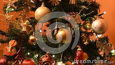Lumières colorées pour l'humeur de Noël clips vidéos
