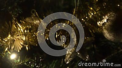 Lumières colorées pour l'humeur de Noël banque de vidéos