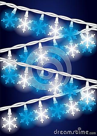 Lumières d éclaille de neige