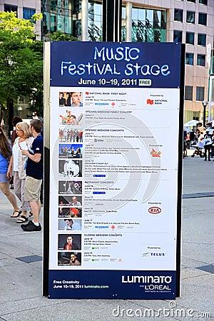 Luminato Festival Program Editorial Stock Image