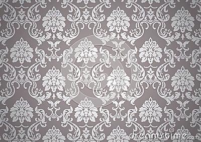 Luminous baroque wallpaper