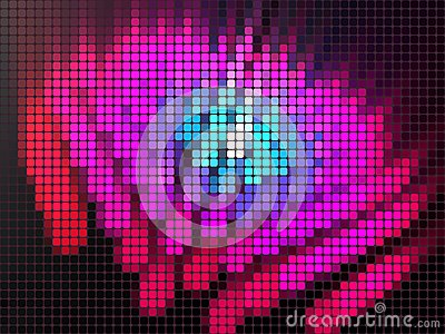 Luminous mosaic background