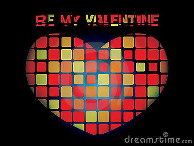 Luminous valentine mosaic heart
