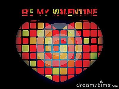 Luminous valentine mosaic heart