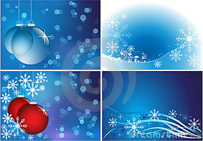 Luminous winter backgrounds set