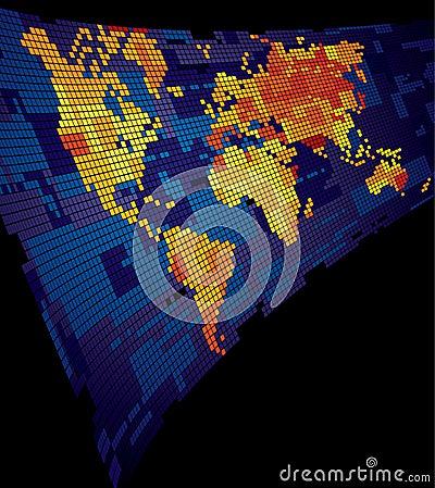 Free Luminous World Map Stock Photography - 7832342