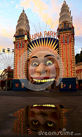 Luna park entrance in Sydney, Australia Editorial Photo
